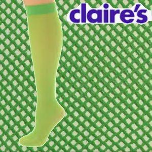 Fishnet Knee-High Green Stocking Socks